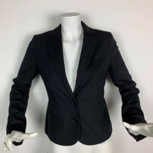 Club Monaco Classic Wool Fitted Black Blazer